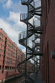 Speicherstadt Treppe Royalty Free Stock Photo