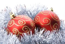 Free Two Christmas Balls Stock Images - 6404134