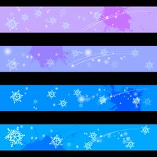 Winter Time Banners Stock Images