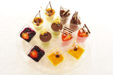Assorted Colorful Desserts Royalty Free Stock Image