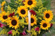 Free Flower Gift Basket Stock Images - 6404304