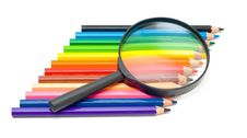 Free Art Education Concept - Pencils And Glass Royalty Free Stock Photos - 6404338