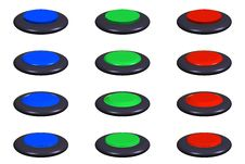 Free Round Buttons Royalty Free Stock Photography - 6404347