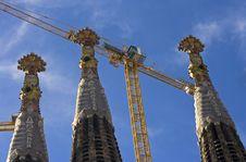 Free Spires Of Sagrada Familia, Winter 2007 Stock Photos - 6404893