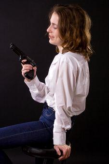 Free Woman With Gun Royalty Free Stock Photos - 6405148