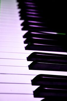 Free Piano Keys Closeup Stock Image - 6405891