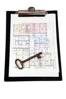 Free Blueprint Of House Plans Stock Photos - 6405913