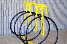 Bike Rack. Royalty Free Stock Photo