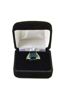 Free London Blue Topaz Ring Royalty Free Stock Image - 6406476