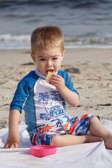 Free Toddler At The Beach Stock Images - 6406924