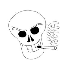 Free Smoking Skull Stock Photo - 6407380
