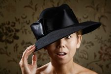 Free Ethnic Woman In A Black Hat Stock Photo - 6407580