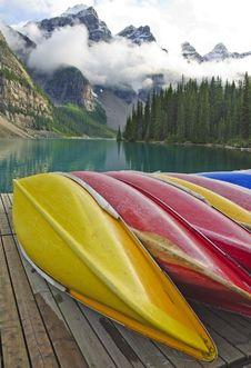 Free Moraine Lake Royalty Free Stock Photo - 6408135