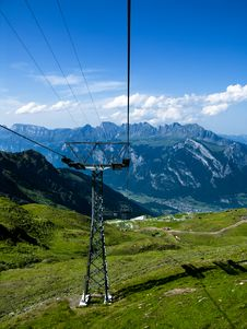 Free Mountain Cable Transport Switzerland Stock Image - 6408181
