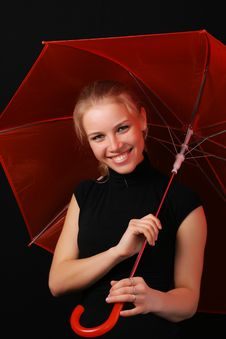 Free Red Umbrella 2 Royalty Free Stock Photo - 6409185
