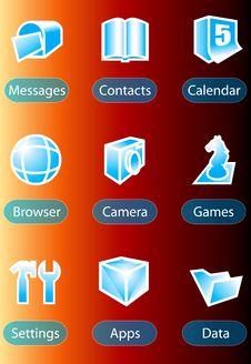 Free Handphone Icon Stock Photography - 6409442