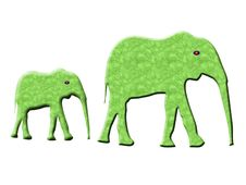 Free Cartoon Elephants Stock Photography - 6409722