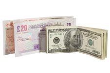 Free Dollar Bills And British Pounds Stock Images - 6409764