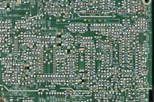 Microcircuit Board. Royalty Free Stock Image