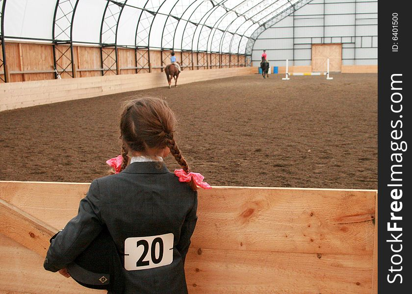 Young Lady, Waiting to Compete