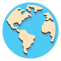 Free World Circle Icon With Shadow Royalty Free Stock Image - 64045826