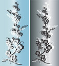 Free Pair Of Silver And Light Blue Flowers Royalty Free Stock Photo - 6415925