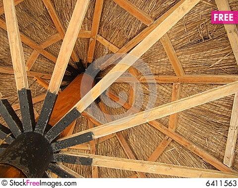 Free Wooden Umbrella Stock Photos - 6411563