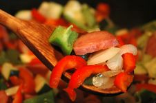 Vegetables In A Pan Stock Images