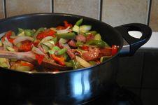 Vegetables In A Pan Stock Photos