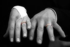 Free Rings On The Hand Stock Photo - 6410950