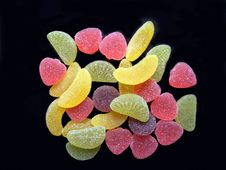 Multi-coloured Fruit Candy Royalty Free Stock Photography