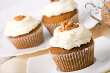 Free Walnuts Muffins Stock Photos - 6411183