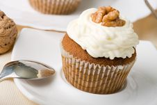 Free Walnuts Muffins Royalty Free Stock Images - 6411289