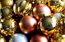 Free Christmas Baubles Stock Image - 6411311