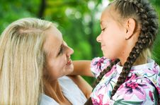 Free Mother And Daughter. Royalty Free Stock Photos - 6411418