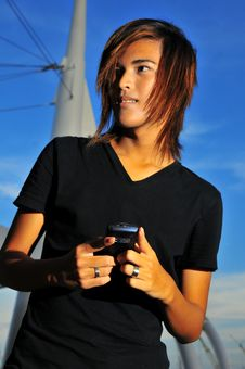 Free Asian On Phone 2 Royalty Free Stock Image - 6411466