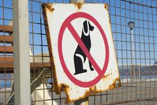 Free No Dogs Allowed Stock Image - 6411811