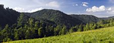 Free Panoramic Picture In High Mountains Stock Photography - 6411992