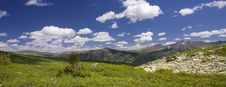 Free Panoramic Picture In High Mountains Stock Images - 6412014