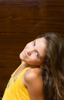 Free Portrait Teen Girl Isolated On White Royalty Free Stock Photography - 6412117