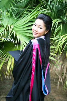 Asian Graduate Stock Image