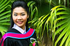 Asian Graduate Royalty Free Stock Photography