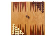 Backgammon Ready To Play Royalty Free Stock Photos