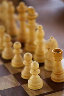 Lined Up Chess Stock Photo