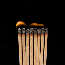 Free Burning Matches Royalty Free Stock Photography - 6412467