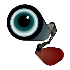 Spyglass With Eye Stock Photography