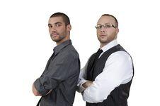 Handsome Men Looking Forwards Stock Photos