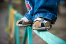 Free Legs Of The Child Stock Images - 6413074