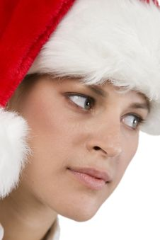 Pretty Santa Woman Stock Photos