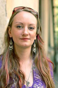 Free Girl Near Stones Wall Royalty Free Stock Photos - 6413348